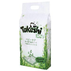 Пеленки впитывающие TAKESHI KID'S для детей бамбуковые 60*60 10 шт.