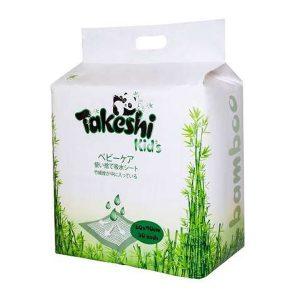 Пеленки впитывающие TAKESHI KID'S для детей бамбуковые 60*90 30 шт