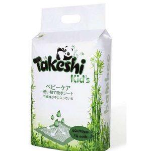 Пеленки впитывающие TAKESHI KID'S для детей бамбуковые 60*90 10 шт