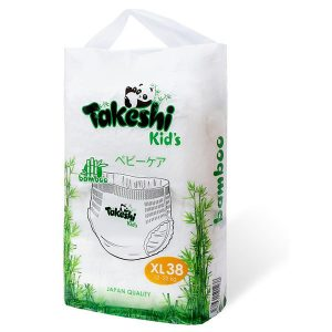 Подгузники-трусики для детей бамбуковые Takeshi Kid's XL (12-22 кг) 38 шт 1/4