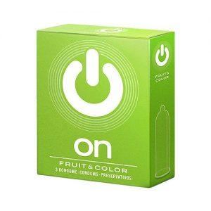 """Презервативы """"ON)"""" Fruit & Color — цветные/ароматизир. (шир 54mm)"""